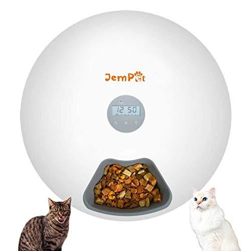Automatischer Futterspender Katze Futterautomat für Katzen Hunde