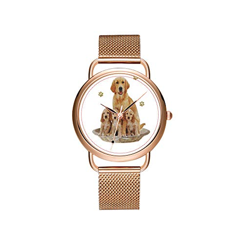 Vrouwen horloges merk dames mesh riem ultradunne klok waterdicht horloge kwartshorloge Kerstmis Nymphensittich grijs en geel huisdier vogel foto horloges
