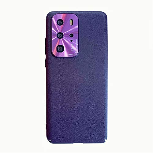 NiaCoCo Kompatibel mit Huawei P40 Lite/Nova6 SE Hülle Telefonkasten PC-Silikon Harte Schale Stoßfest Ultra Dünn Kratzfest Schutz Telefon Schutzhülle+1PCS Displayschutzfolie - (Violett)