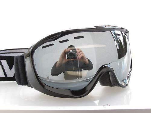 RAVS van Alpland Snowboarding Bril Sterk Zilver Spiegel – Ski Goggles Ook voor Bril dragers incl. Microvezeltas.