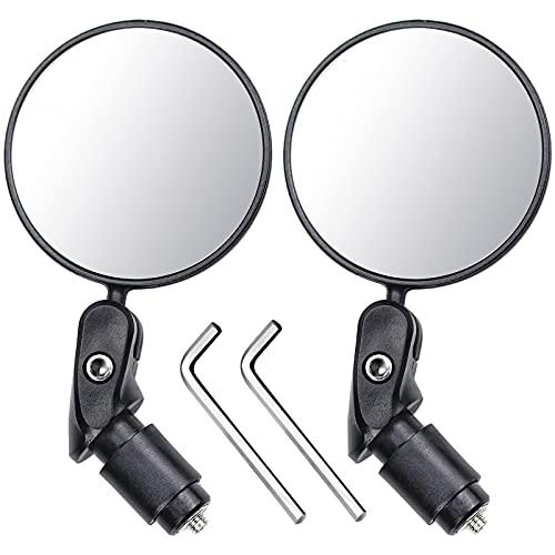 2 Piezas Espejo Retrovisor de Bicicleta Espejos de...