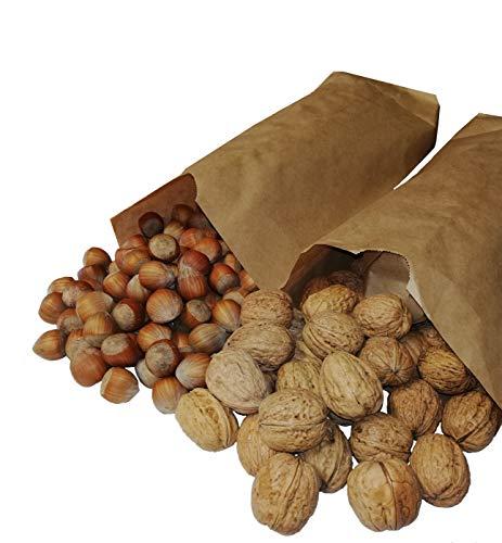 FRUCHTVERSAND24® Nuss-Mix 5kg (je 2,5kg franz. Hasel- und Grenobler Walnüsse)