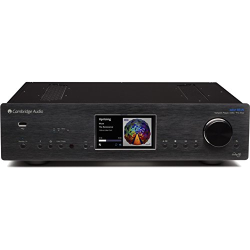 Cambridge Audio Azur 851N Stereo Digital Preamplifier, Network Player | Hi-Fi All-in-One Receiver | Wireless Media Streaming with WiFi, Apple AirPlay and Android Compatible (Black)