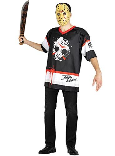 Funidelia   Disfraz de Jason Viernes 13 Hockey Oficial para Hombre Talla L ▶ Friday The 13th, Películas de Miedo, Terror - Color: Negro - Licencia: 100% Oficial