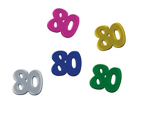 Confettis de table anniversaire 80 ans