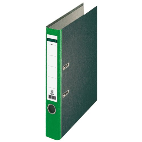Centra 221124 Standard-Ordner (grauappe RC, mit Wolkenmarmor-Papier-Kaschierung, A4, 5,2 cm Rückenbreite) grün