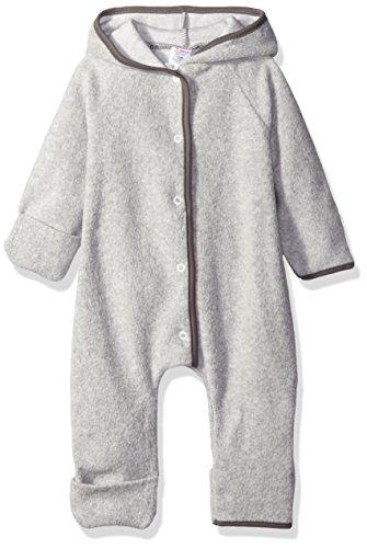 Zutano Cozie Fleece Elf Romper, Heather Gray, 3M
