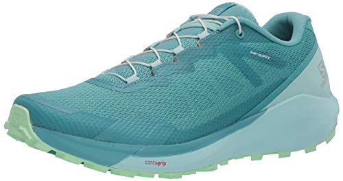 Salomon Damen Shoes Sense Ride Laufschuhe, Mehrfarbig (Meadowbrook/ICY Morn/Patina Green), 40 2/3 EU