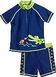 Playshoes Jungen UV-Schutz Bade-Set Krokodil Badehose, Blau (Marine 11), 74 (Herstellergröße: 74/80)