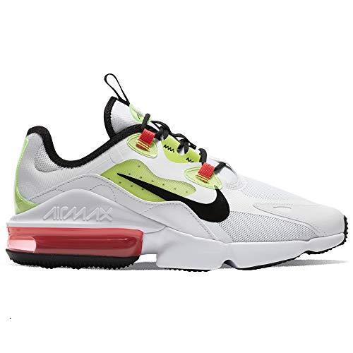 Nike Air MAX Infinity 2, Zapatillas para Correr Hombre, White Black BRT Crimson Volt, 39 EU