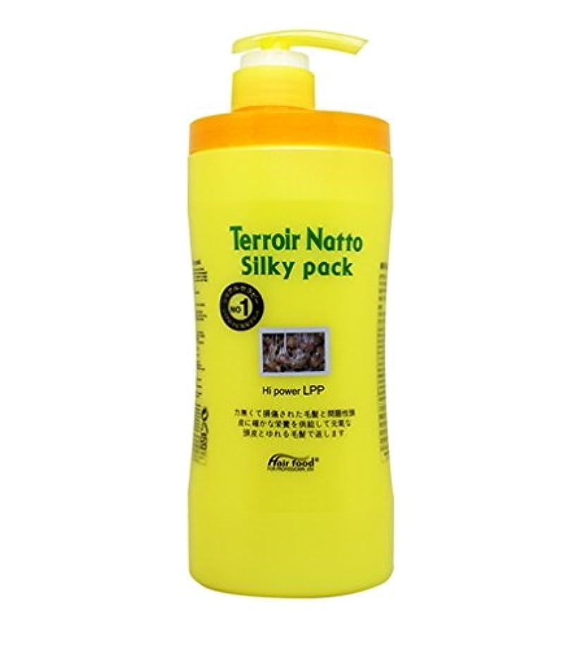 放射能葉っぱ熱心[MEDICIJAPAN/メディシュジャパン] Hair Food Terroir Natto Silky Pack 1000ml/ ヘアフードテロワール納豆シルキーパック(海外直送品)