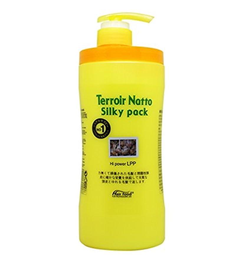 低い突然のエイズ[MEDICIJAPAN/メディシュジャパン] Hair Food Terroir Natto Silky Pack 1000ml/ ヘアフードテロワール納豆シルキーパック(海外直送品)