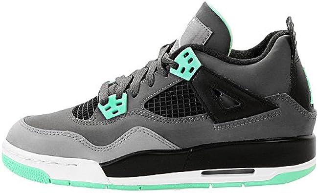 Nike Air Jordan 4 Retro GS Dark Grey Green Glow (408452-033)