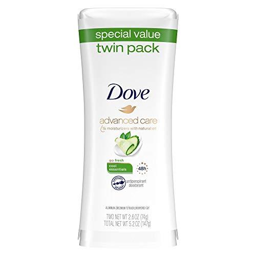 Dove go fresh Antiperspirant Deodorant, Cool Essentials 2.6 oz, Twin Pack
