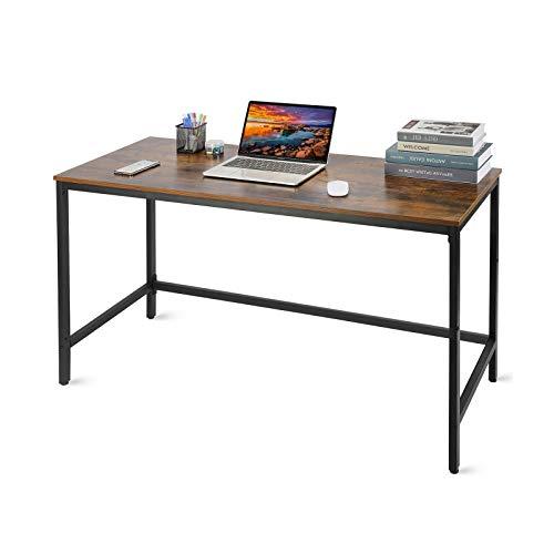 Schreibtisch im Industrie-Design,Moderner Bürotisch,Gaming Tisch,Arbeitstisch, Computertisch, Esstisch fürs Home, Büro, Wohnzimmer, Arbeitszimmer,einfache Montage, vintagebraun-schwarz,120 X 50 X 75cm