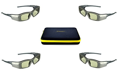 4x Hi-SHOCK® 3D-BT Pro Oxid Diamond | Smart Active Dual Play / Dual View 3D Brille für 4K / HDR / HD 3D TV's von Sony, Samsung, Panasonic, Sharp | komp mit SSG-3570 CR / TDG-BT500A | Familypack