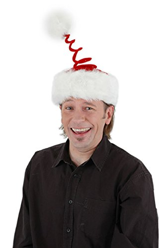 elope Springy Santa Hat, Multi-Colored, One Size
