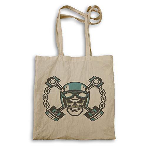INNOGLEN Skull Biker With Moustache Tragetasche ee768r