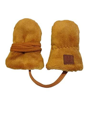 maximo Baby-Jungen Fäustel ohne Daumen Winter-Handschuhe, Dark Cornsilk, 6M
