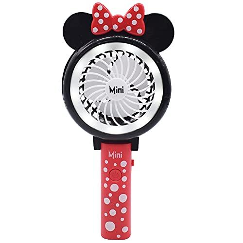 Mini Ventilador eléctrico, NALCY Minnie Mouse Ventilador de Escritorio, Ventilador de Mano,...