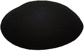 EREZ OVED Black All Size Hand Made 100% Cotton Yarmulke Jewish Kippah Kipa Judaica Yamaka Kippa Yamakah Yarmulka Hat Men Or Kids - Purple - 24CM 9.4INCH