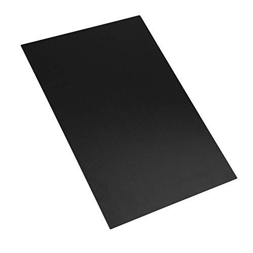 KKmoon 3K Carbonfaserplatten 300mm x 200mm (0,5mm 1,0mm 1,5mm 2,0mm 2,5mm 3,0mm Dicke) Carbonplatte Kohlefaserplatte (glänzend, matt)