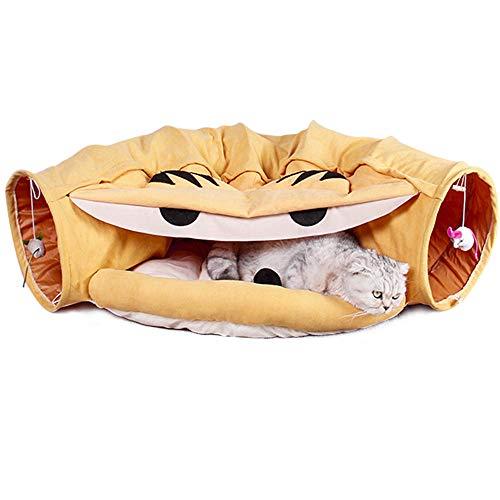 HIASU 猫 トンネル 猫ハウス キャットトンネル 折りたたみ 猫 おもちゃ 猫遊び 収納便利