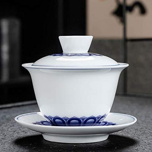 Set di teiera - Gaiwan tazza da tè con ciotola in porcellana Set per il viaggio bello e