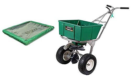 Lesco 101186 High Wheel Walk-Behind Fertilizer Spreader Plus Hopper Cover (Bundle)
