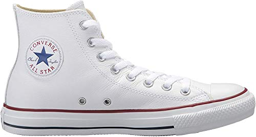 Converse Chucks Taylor All Star Hi Leder, Unisex - Erwachsene Sneaker, Weiß (Optical White), 41 EU