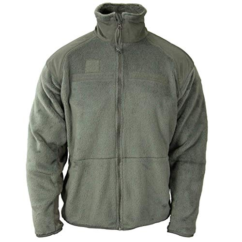 Polartec Official US Military Thermal Pro Gen III Cold Weather Fleece Jacket X-Large Long XL/L (XL, Foliage Green)