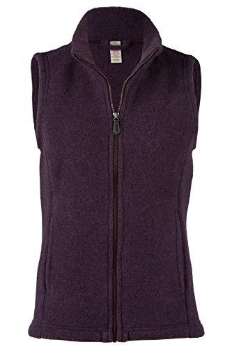 Engel Damen Fleece Weste mit Taschen, 100% Schurwolle, Gr. 34/36-46/48, 2 Farben (42/44, Lila Melange)