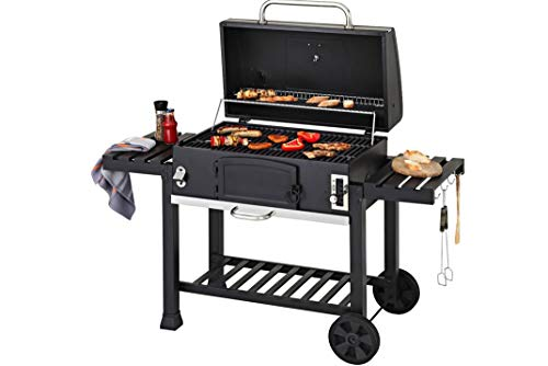 CosmoGrill Outdoor XXL Smoker Barbecue Charcoal Portable BBQ Grill Garden