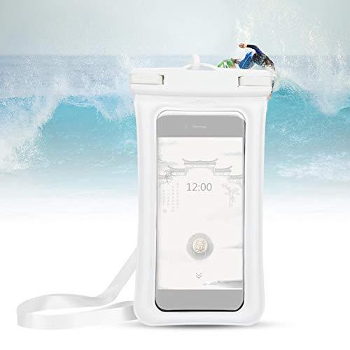 DAUERHAFT Cubierta del teléfono Impermeable Protección del Medio Ambiente, para Rafting, para Hacer Surf(White)