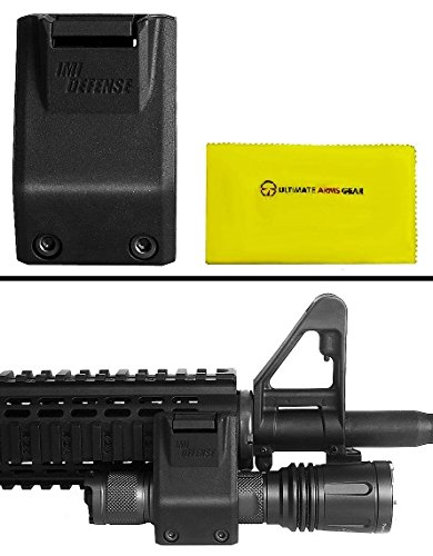 """Ultimate Arms Gear IMI Defense TLM1 Black Offset Flashlight Light Picatinny/Weaver Rail 0.75"""" or 1"""" Side Mount is Universally Fit For All Rifles Cleaning Cloth"""