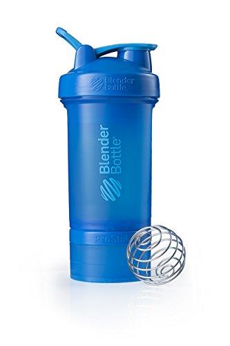 BlenderBottle ProStak Full Color Botella de Agua y Accesorios, Unisex Adulto, Cian, 650 ml