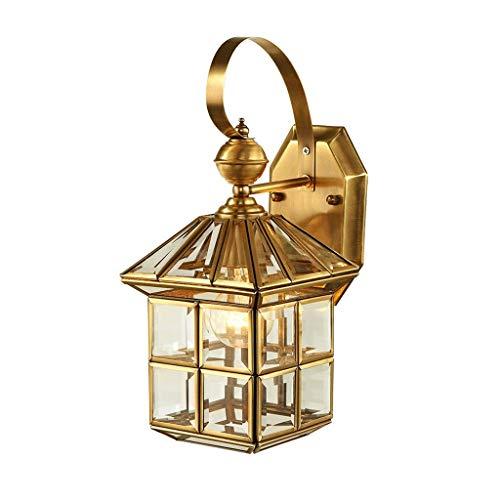 BUYAOBIAOXL Lámpara de Pared Wall Lamp Aplique Todo Cobre Simple Balcón Interior Exterior 20X40cm Apliques Pared