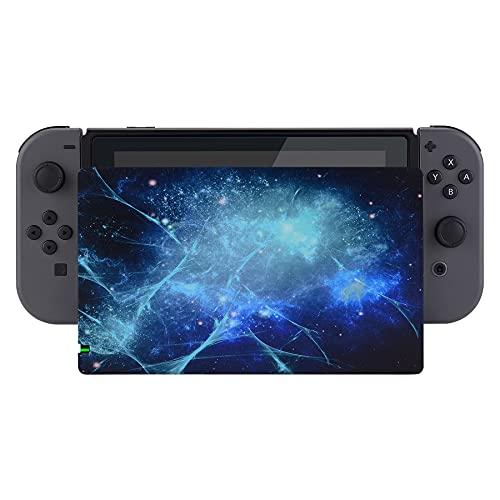 PlayVital Protector para Nintendo Switch Accesorios Dock Carcasa para Charging Dock Cover Cubierta de Polvo Anti-Rayas Placa Solid Funda para Nintendo Switch Dock-No Incluye Dock(Nebulosa Azul)