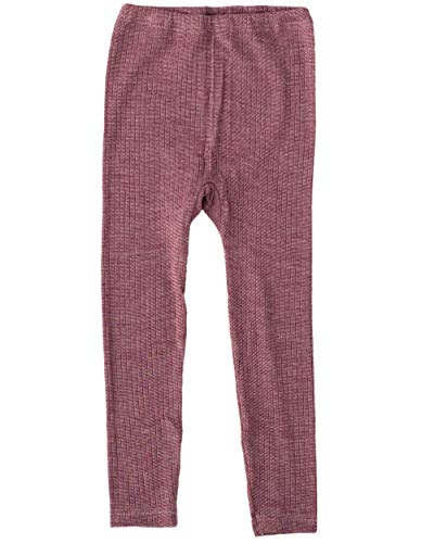 Cosilana, Kinder Leggings/Lange Unterhose, 45% KBA Baumwolle, 35% kbT Wolle, 20% Seide (128, Weinrot meliert)