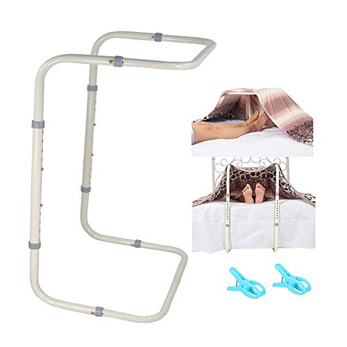 Blanket Lifter for Feet Lift Bar Sheet Riser Foot Tent Blanket Support Holder 26-34'' Adjustable Bed Cradle Assistance Device Hospital Bed Rail Accessories Leg Knee Ankle Post Surgery Recovery