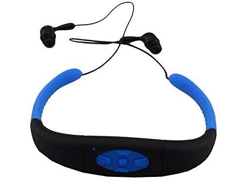 Sudroid MP3-Headset, Musik-Player, 8 GB Speicher, HiFi-Stereo, Kopfhörer zum Schwimmen, Surfen, Laufen, Sport, preisgekröntes Design (blau)