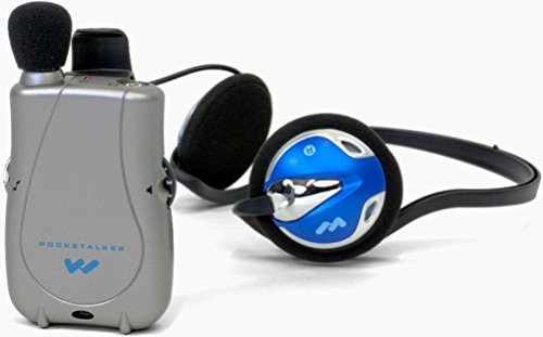 Williams Sound PKT D1 H26 Pocketalker Ultra with Rear-wear Headphone, 200 hours of battery life, Adjustable tone and volume control, Accommodates a variety of earphone and headphone options