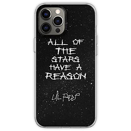 FGHSFRT Compatible with iPhone 12 Mini Case Lil Peep Star Shopping Lyrics Starry Background Soft TPU Print Pure Clear Phone Case Cover