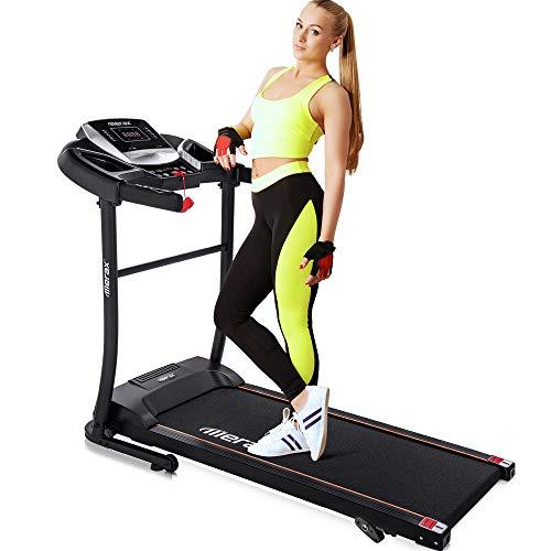 Merax Easy Assembly Folding Treadmill Motorized Running Jogging Machine (Gray Black)