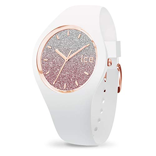 Ice-Watch - ICE lo White pink - Weiße Damenuhr mit Silikonarmband - 013427 (Small)