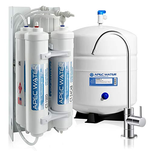 APEC Water Systems RO-QUICK90 Ultimate Supreme Compact Size with Quick Connect Easy Change Filters Undersink Reverse Osmosis System,white