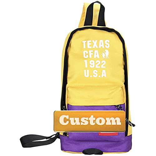 Nombre personalizado Thin Sling Lady Bags Bag USB Sling Hombro Escuela Bolsa Senderismo Daypack Mujer Pequeño (Color : Yellow, Size : One size)