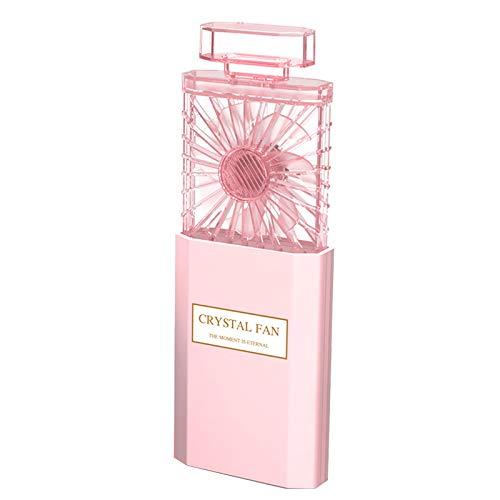 Casinlog Ventilador plegable para modelado de perfumes portátil USB recargable ventilador de refrigeración (rosa)
