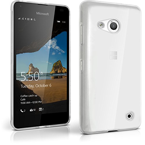 iGadgitz U4197 Custodia TPU Compatibile con Microsoft Lumia 550, Cover con Pellicola - Transparente