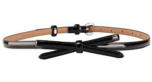Black Temptation Vestido de Mujer Negro cinturón Fino, cinturón de Moda